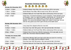 Christmas Activities 2019